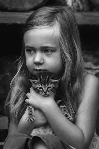 1stPlace-Print-Robin CantyGirl With Kitten